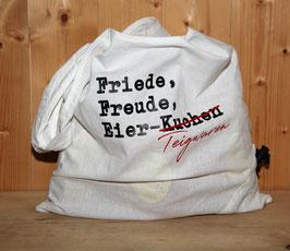 Praktische Falttasche weiss aus Baumwolle, gefüllt mit hausgemachten Appenzeller Teigwaren
