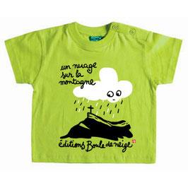 """T.shirt bébé """"UN NUAGE SUR LA MONTAGNE"""""""