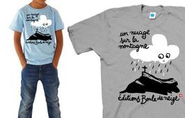 """T.shirt enfant """"UN NUAGE SUR LA MONTAGNE"""""""