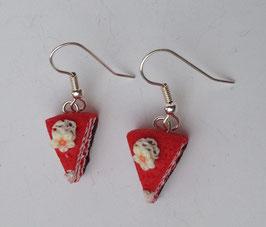 Ohrringe Tortenstück rot