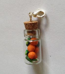 Charm Anhänger Orangen in der Flasche