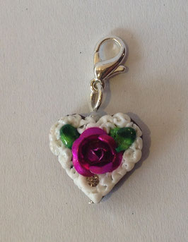 Charm Mini-Lebkuchenherzen Rose metallig purple