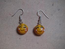 Ohrringe Smiley, Emoji fröhlich