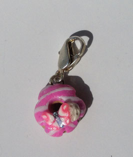 Charm Anhänger Donut rosa