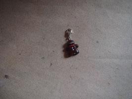 Charm Lebkuchenmann dunkel mit roter Schleife