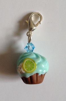 Cupcake Charm Anhänger karibik-blau