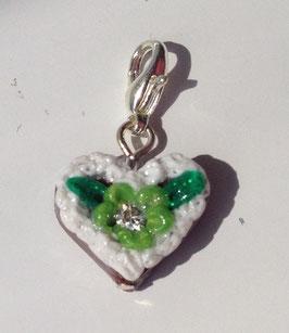 Charm Mini-Lebkuchenherzen grün