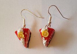 Ohrringe Tortenstück Erdbeere Zitrone