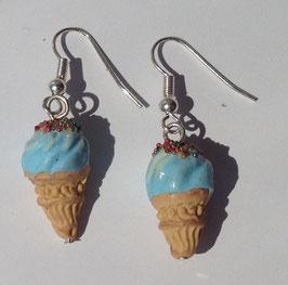 Ohrringe Schlumpf-Eis hellblau