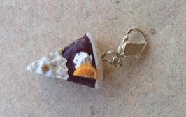 Charm Anhänger Schoko-Orangen Torte