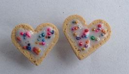 Ohrstecker Herz mit Liebesperlen