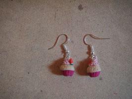 Ohrringe Muffins pink mit Melone mini