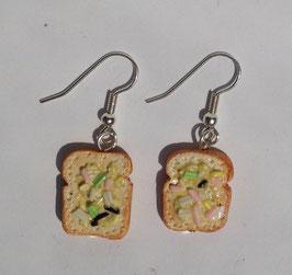 Ohrringe Toast mit Streusel