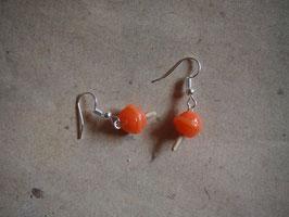 Ohrringe Lolli, Lutscher orange