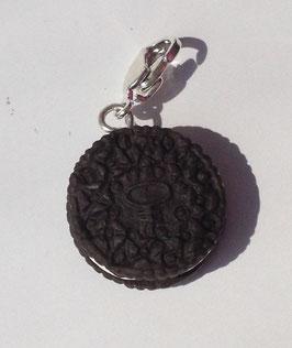 Charm Anhänger dunkler Keks