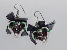Ohrringe Lebkuchenherzchen Rössle schwarz