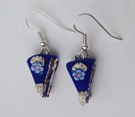 Ohrringe Tortenstück blau