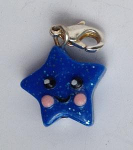 Charm Anhänger Stern blau