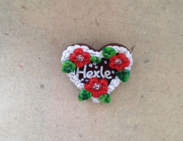 """Brosche Herz """"Hexle"""" rot"""