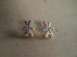 """Ohrstecker Gebäck """"Teddybär"""""""