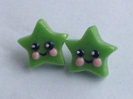 Ohrstecker Sternchen grün