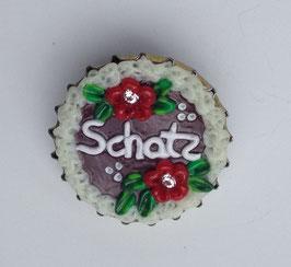 """Brosche """"Schatz"""" rot"""