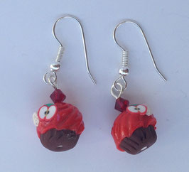 Ohrringe Cupcake rot Apfel