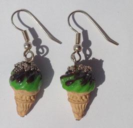 Ohrringe Eis grün