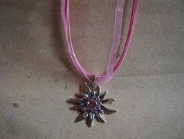 Kette Edelweiss rosa