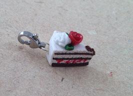 Charm Torte, Kuchenstück Rosenrot