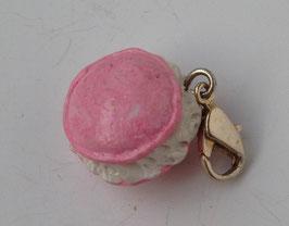 Charm Anhänger Macaron rosa