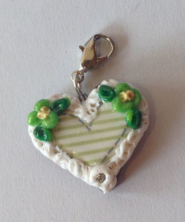 Charm Lebkuchenherz grün