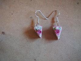 Ohrringe Rosentorte rosa