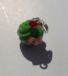 Charm Anhänger Cupcake apfelgrün