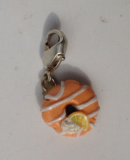 Charm Anhänger Donut orange