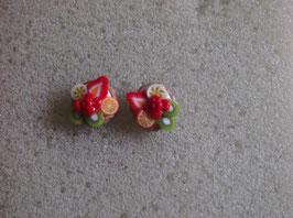 Ohrstecker Obsttörtchen bunte Mischung