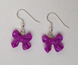 Ohrring Schleife lila