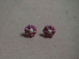 Ohrstecker rosa Blumen