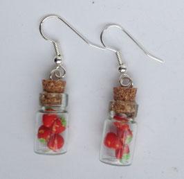 Ohrringe Erdbeeren im Fläschle
