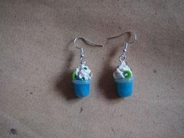 Ohrringe Milchshake Blue Curacao