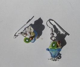 Ohrringe Eisbecher mit Sahne