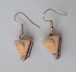 Ohrringe Grapefruit-Sahnetorte
