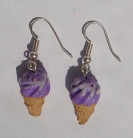 Ohrringe Eis pastell-lila