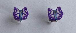 Ohrrstecker Schmetterling lila