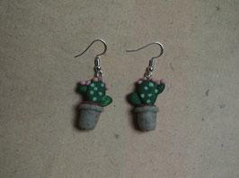 "Ohrringe Kaktus ""Echinocereus reichenbachii"""