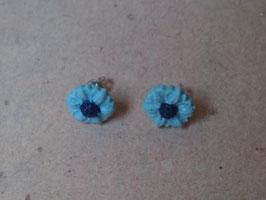 Ohrstecker blaues Blümchen
