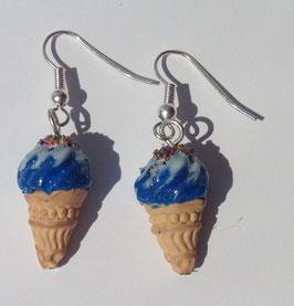 Ohrringe Eis dunkelblau