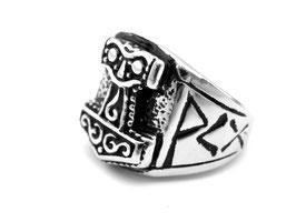 Thorhammer Edelstahl Ring (R-036)