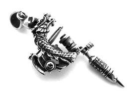 Tattoo Anhänger Skull Edelstahl (A010)