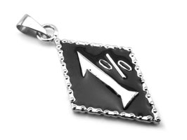 1%er Anhänger Edelstahl (A002)
